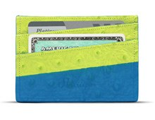 The Green Ostrich Cardholder