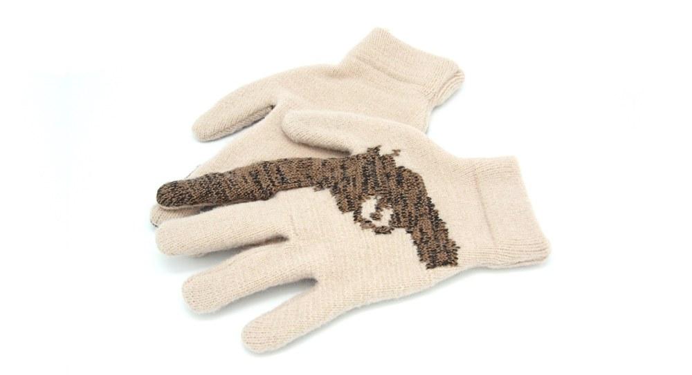 Striiiipes - Cashmere Gun Gloves 2