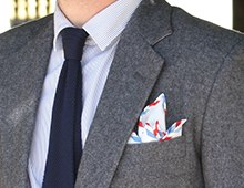 Par Avion Pocket Square
