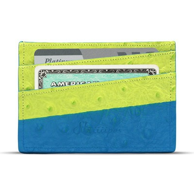 Striiiipes - Feature product picture - Green Ostrich Cardholder