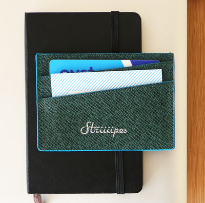 Striiiipes-cardholder-feature-product-Green-textured-leather-cardholder 2