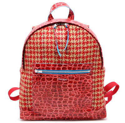 Striiiipes---Red-Wool-and-Croco-Leather-Backpack-Feature