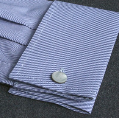 Striiiipes - Feature product picture - Shell Cufflinks