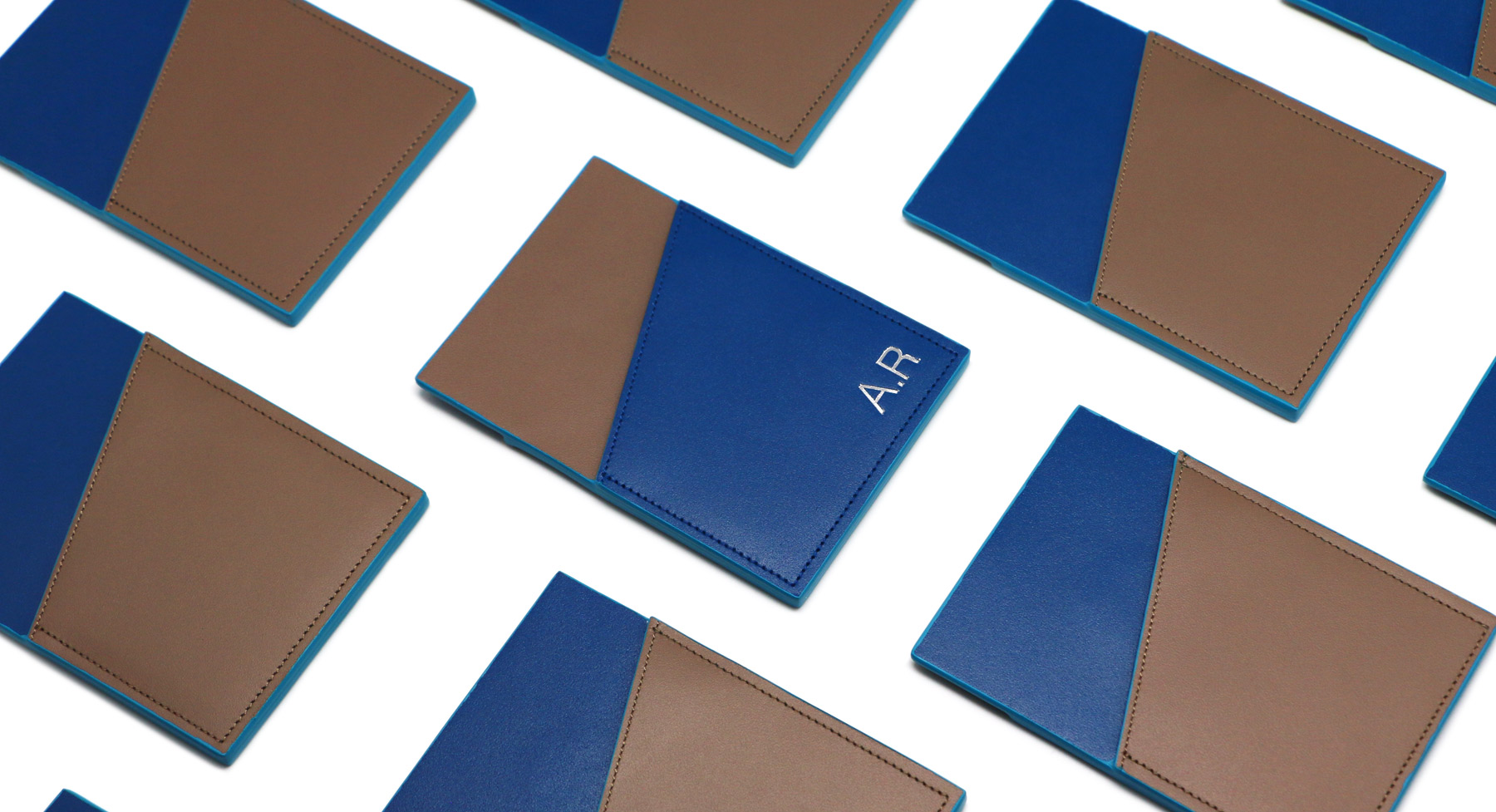 brown blue nfc cardholder striiiipes