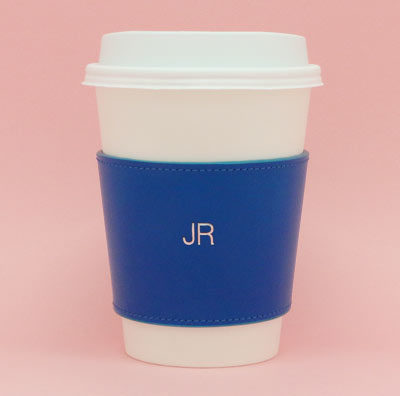 Striiiipes---Feature-product-picture---Blue-Leather-Coffee-Cup-Holder